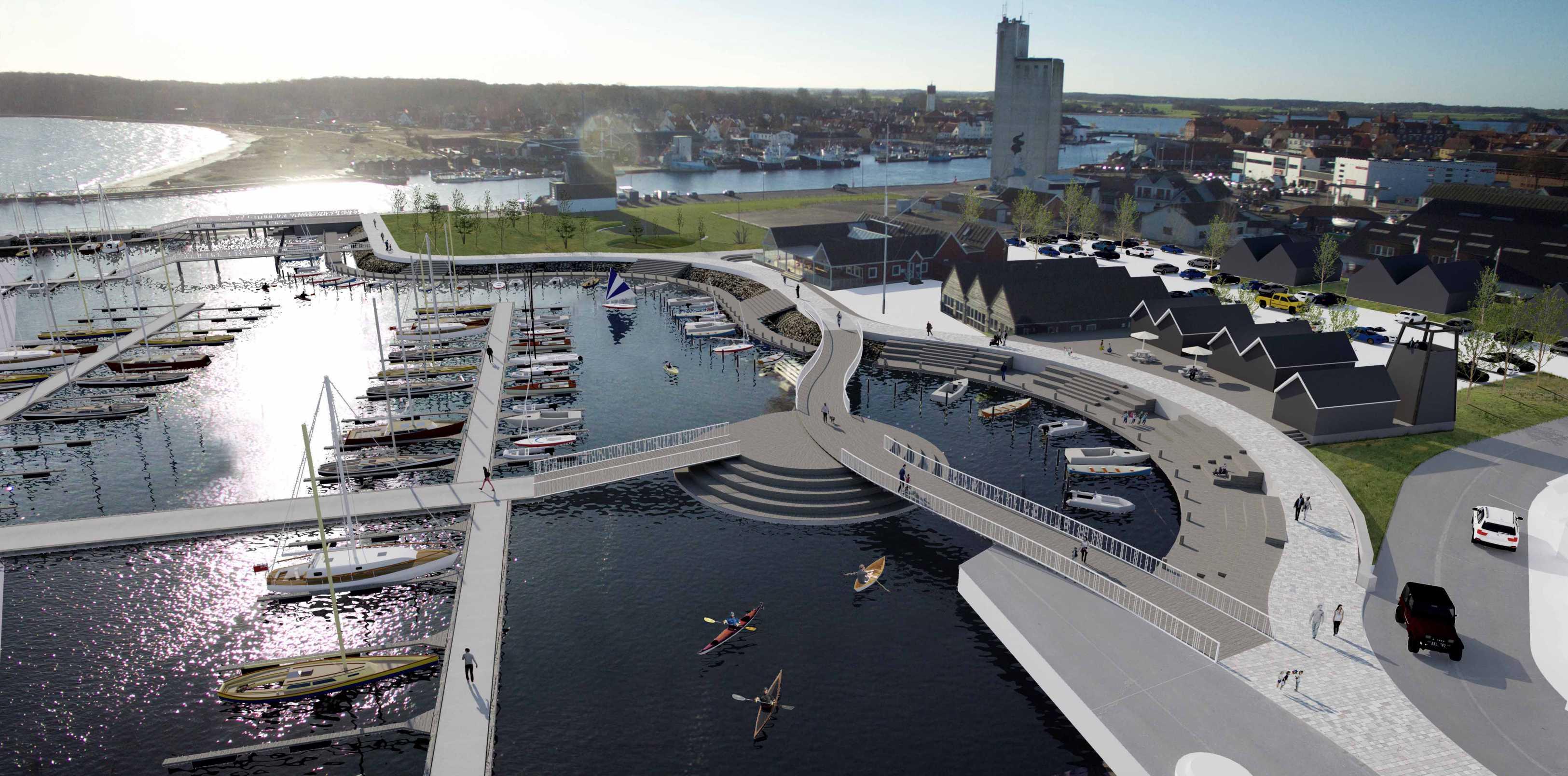 Havneplan, Kerteminde Marina, Strandkilen, Luftfoto