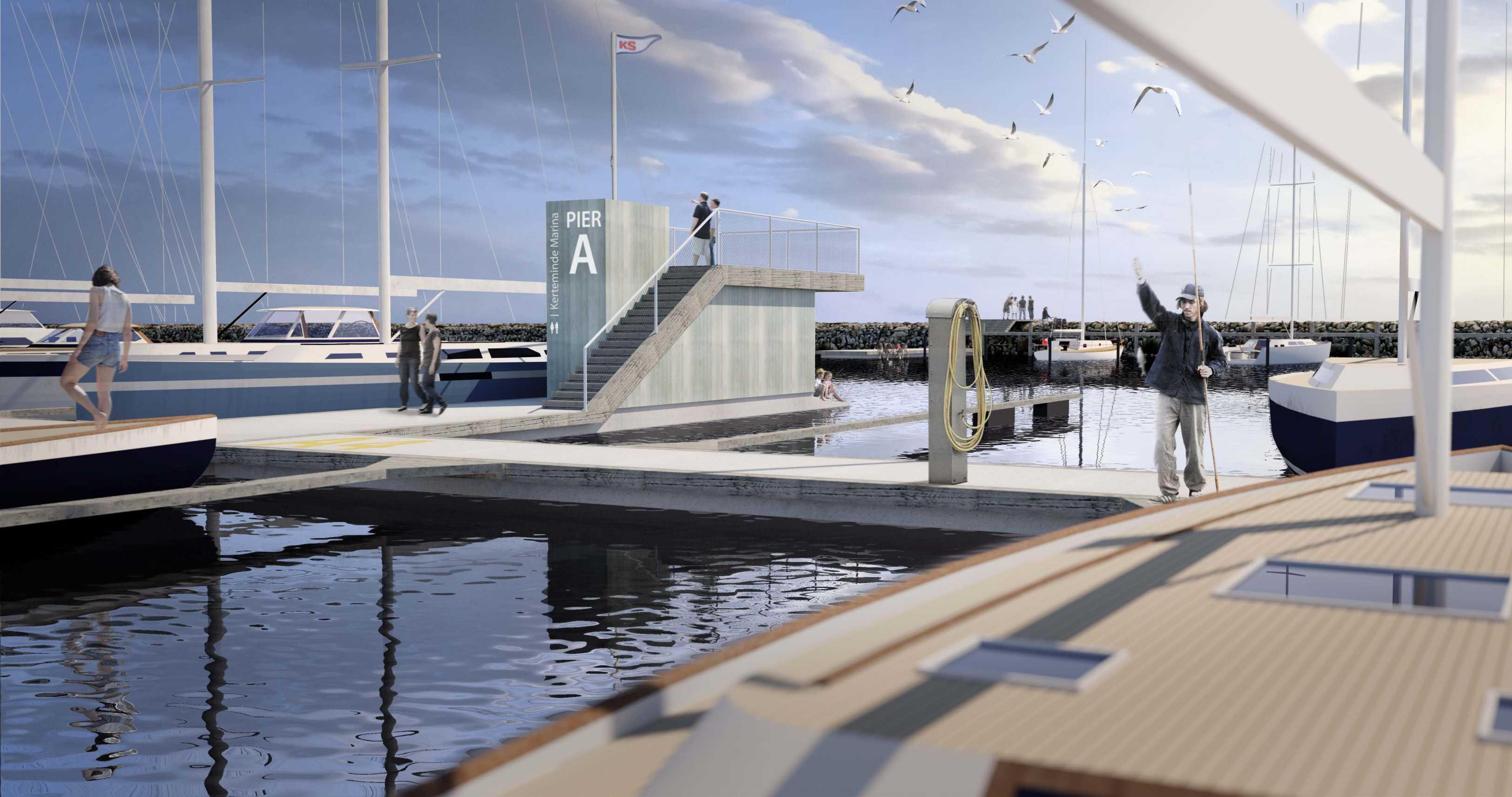 Havneplan, Kerteminde Marina, Strandkilen, Udsigtsplatform