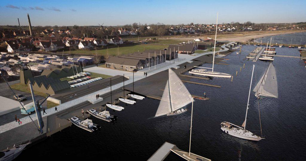 Lystbådehavn set fra luften