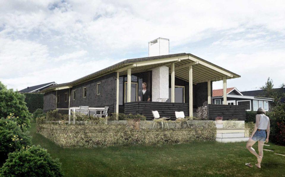 Sommerhus, Kløvervej, Facade