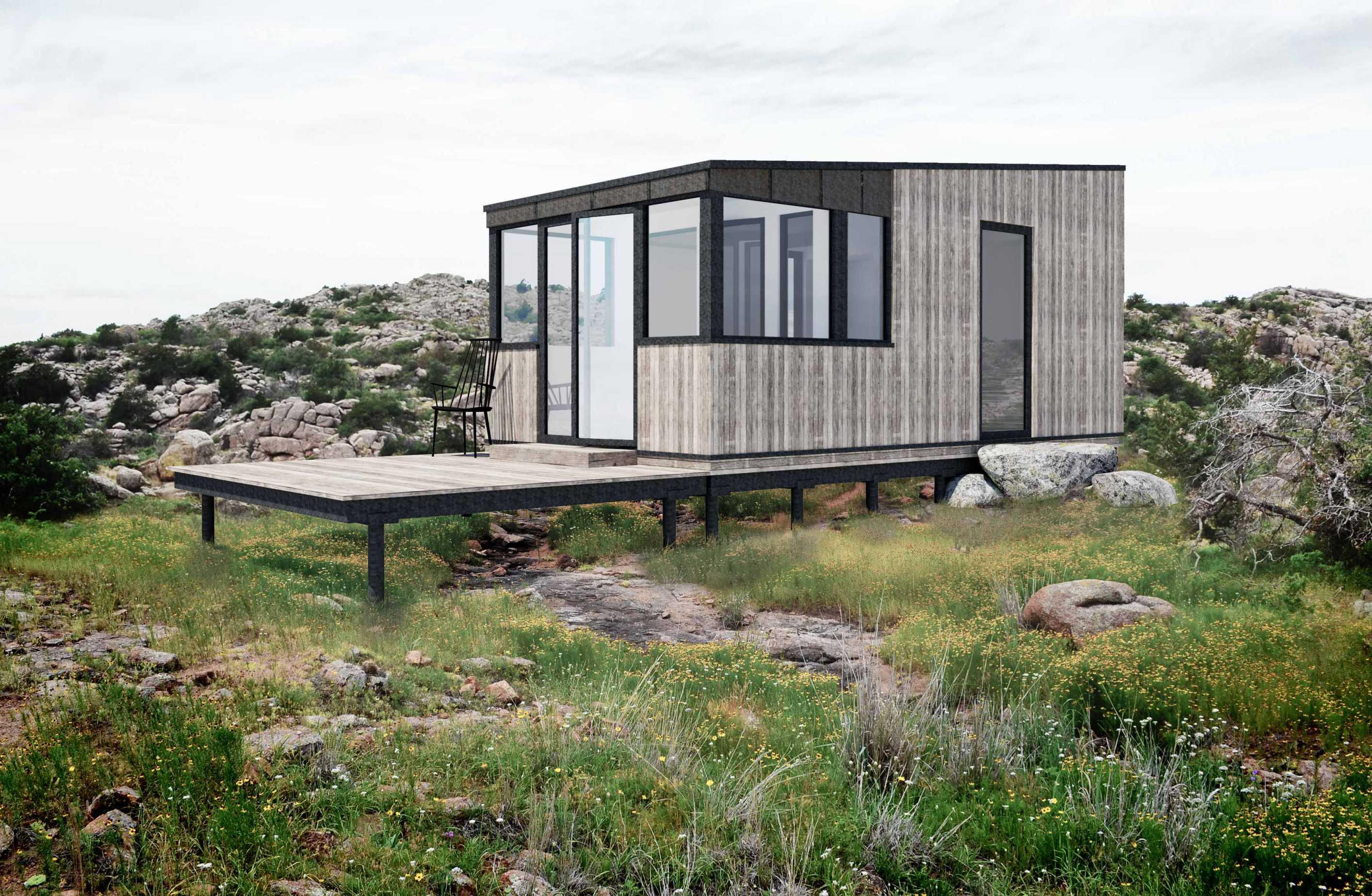 Udvendig visualisering af Micro House
