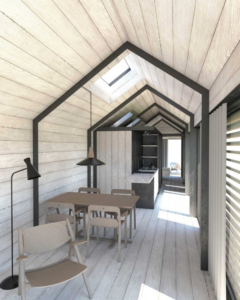 Visualisering af interiør i sommerhus